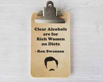 Ron Swanson Clipboard Parks and Recreation Clipboard Office Clipboard Wood Desk Accessories Funny Office Gift Graduation Gift for Guy