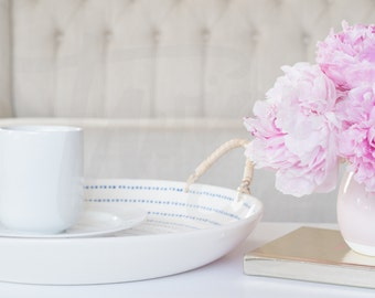 Pink Peony & Journal | Full Size Stock Image