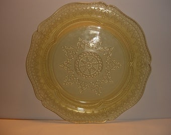 """Federal Glass - Patrician - Amber 1933-1937 Dinner Plates 11""""  Seven"""