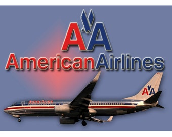 American Airlines 737 Airplane Logo Fridge Magnet (LM14102)