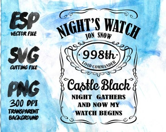 Night watch label Clipart , SVG Cutting , ESP Vectors files , T shirt , iron on , sticker ,Personal Use
