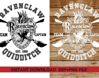 Ravenclaw Quidditch Clip Art,T shirt, iron on , sticker, Vectors files ,Personal Use