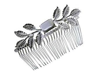 Octagon 13x18 mm / Rivoli ss24 5 mm Leaves Hair Comb