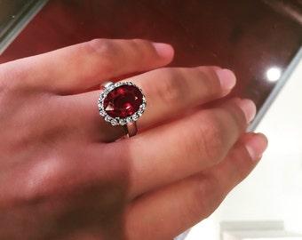 6.59ct Ruby & Diamond  Ring!