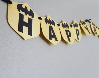 Batman/Batgirl Birthday Banner