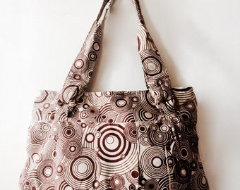 "Spiral ""Karma bag"" handmade cotton handbag"