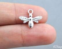 925 Sterling Silver Bee, Bee Pendant, Silver Bee, Little Bee, Jewelery Making, Craft, Aemi-finished Jewelery, Bee, Animal Pendant, Honey