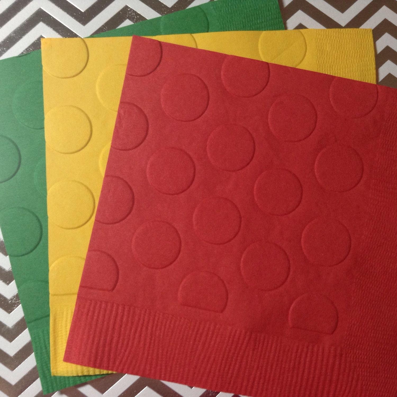 serviettes en lego serviette en papier en relief mariage. Black Bedroom Furniture Sets. Home Design Ideas
