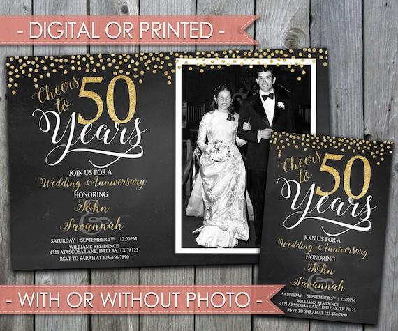 Golden Wedding Anniversary Invitations: Gold Wedding Anniversary Invitation Golden Anniversary