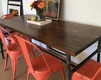 Industrial Pipe Dining Table, Benson Edition