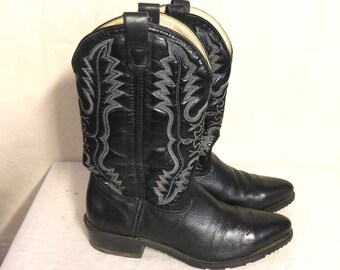Double H steel toe western work boots, size 12D