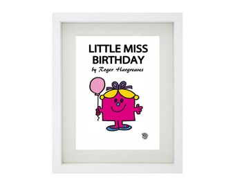 LITTLE MISS BIRTHDAY Character Framed Art Collection - Mr Men and Little Miss Print