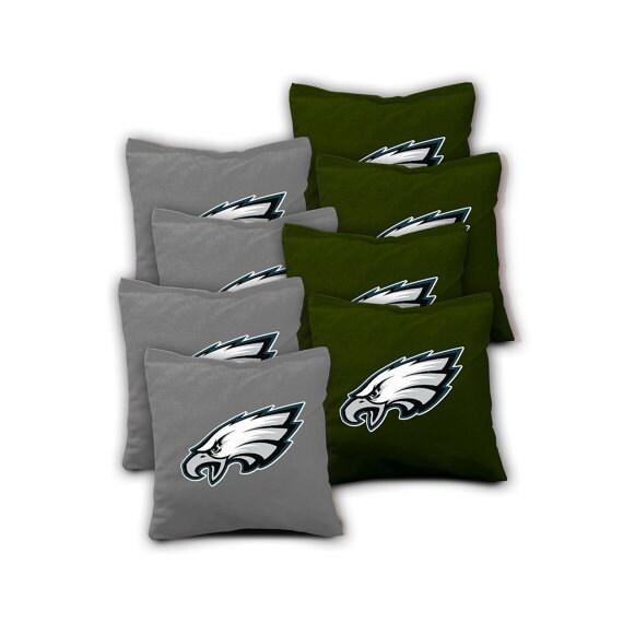 Philadelphia Eagles Set Of 8 Aca Regulation Cornhole Bags Bean