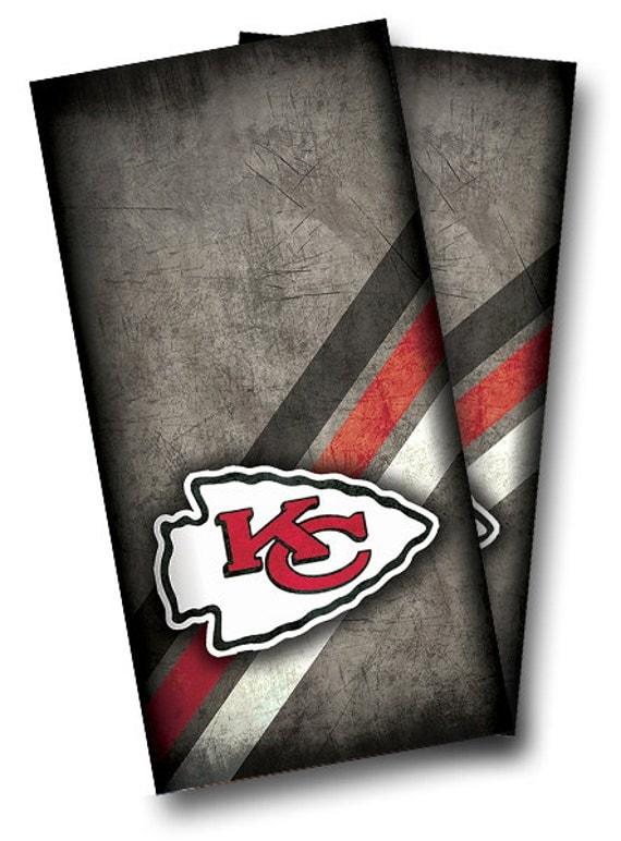 Kansas City Chiefs Cornhole Wrap Wraps Set High Quality Vinyl
