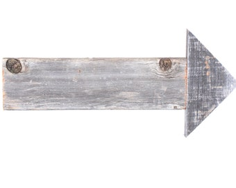 "Barnwood Rustic 15"" Decorative Arrow Signs, Weathered Gray, Primitive Decor"