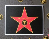 Hollywood Walk of Fame Star - Personalized Greeting Card - Graduation and Congratulations - Film and Music Production School - Oscars Party