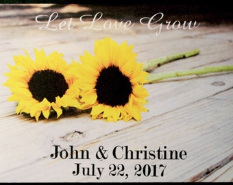 Let Love Grow Sunflower Seeds Seed Packets Wedding Packet