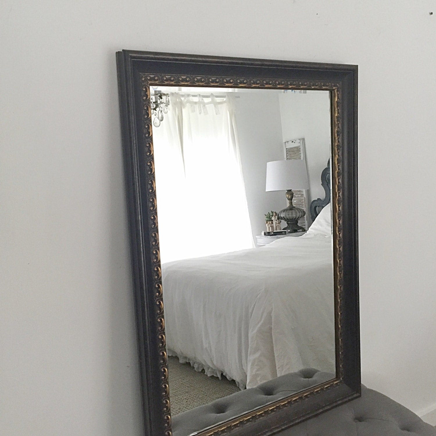 French country wall mirror extra large decorative mirror thick for Big mirrors for sale