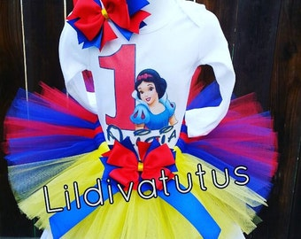 Handmade Snow white tutu set
