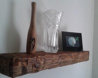 Handhewned shelf