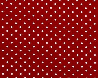 Fabric Lipstick Red MINI DOT Premier Prints Home Decor Fabric 7 oz Cotton