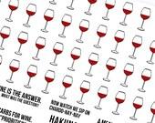 Wine O'Clock - Planner Stickers (SKU094)