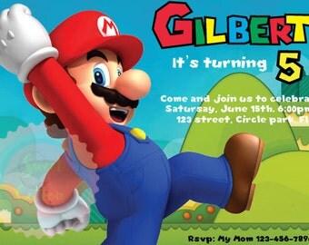 Super Mario's Birthday Invitation