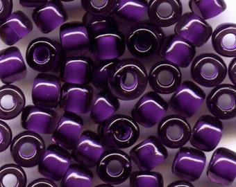 6/0 Fancy Color Lined Purple, Japanese Glass Bead 28g 399J