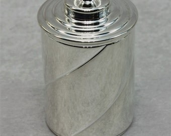 Thimble Case - Spiral - Silver Plate