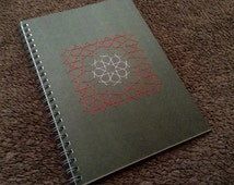 Pattern of Eight-fold Rosette - Notebook embroidered with a Geometric Design,  Islamic Geometric Art, Moroccan Pattern