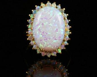 Opal Ring - Fabulous Large Opal 18ct 20ct Opal