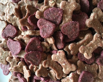 Tink and Meek Hearts and Bones Dog Treat Mix (Vegan, Dehydrated)