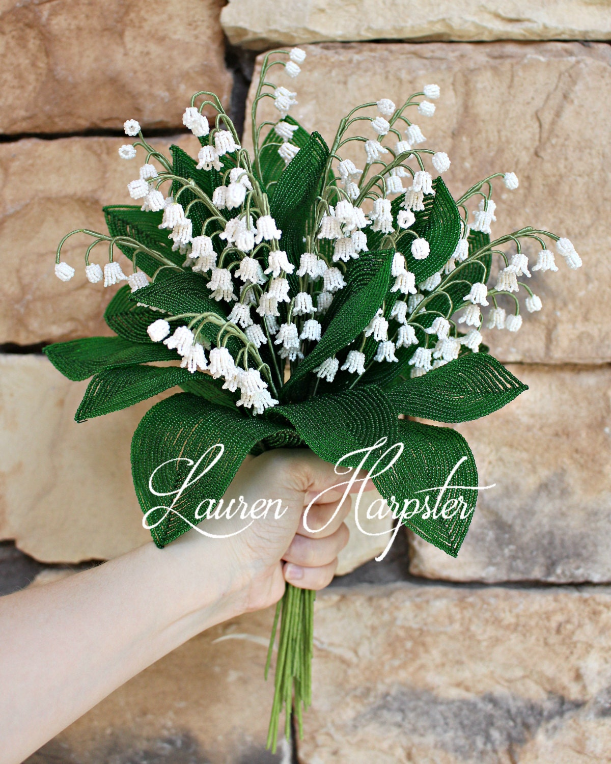 PDF Pattern - French Beaded Lily of the Valley, seed bead flower ...