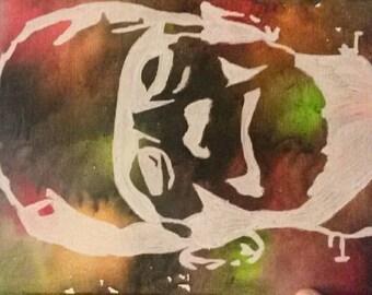 Frankenstein Melted Crayon 8x10