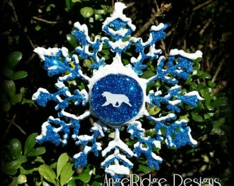 Australian Shepherd Snowflake Christmas ornament