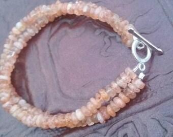 Sunstone Double Strand Bracelet