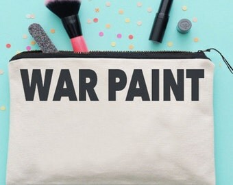 War Paint Make Up Bag Cosmetics Bag Make Up Case Cosmetics Case *NEW* Fun Gift Ideas