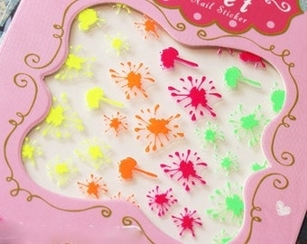 Nail Sticker neon , Nail Art  , Nail deco , nail accessory,nail decoration ,