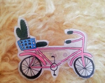 Hand Painted Bicycle Pin