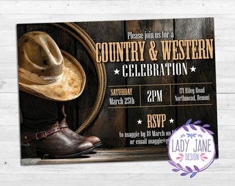 Country and Western Invitation