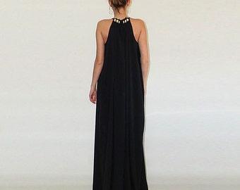 Black maxi dress / Black gown / Long dress