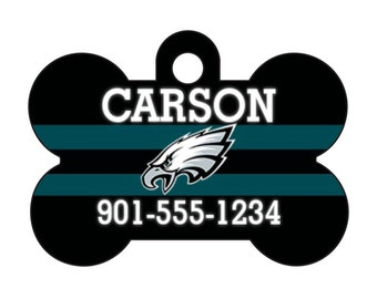 Philadelphia Eagles Personalized Dog Tag Pet Id Tag w/ Your Pet's Name and Number