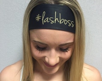 Younique Lash Boss headband #lashboss that ties- great for workout running yoga everyday -bathing suit material soft-stays in place-washable