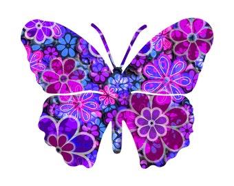 Metal Butterfly Art Blossom Home Decor