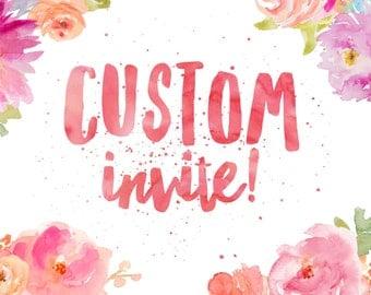 Custom Invites for Brittany Kertz