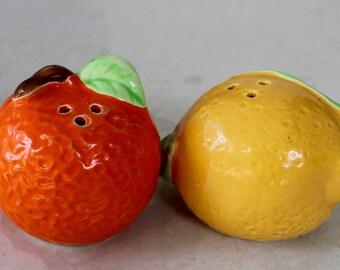 Lemon and Orange Salt and Pepper Shakers