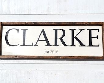 Last Name Sign - Wedding Sign - Customized Sign - Established - Family Sign - Handmade Sign