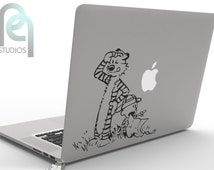 Calvin and Hobbes exploring - cute and creative High Quality matte vinyl macbook or laptop decal, sticker SKU - PPMD065