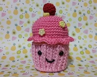 Lemon & Raspberry Cupcake Amigurumi pattern ~DIGITAL DOWNLOAD~