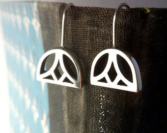 Sterling Silver Egyptian Lotus Earrings